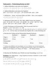 Mathe-Wiederholung HS/MS 6. Klasse Bayern