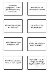 Religion 4. Klasse Unterschied Katholisch-Evangelisch