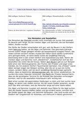 Rollenspiel Nomaden und Sesshafte Steinzeit AB mit integrativer Grammatik (Kasus)