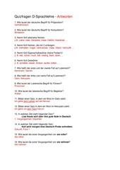 Sprachlehre - Quiz als Warming up