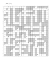 Kreuzworträtsel New Highlight 2, Unit 1