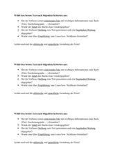 Kriterien für eine Leseempfehlung/ Rezension