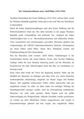 Der Nationalsozialismus unter Adolf Hitler (Anne Frank)