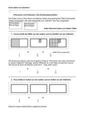 Erforschen: Addition und Subtraktion von Brüchen