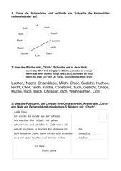Übungen zum Buchstabenpaar
