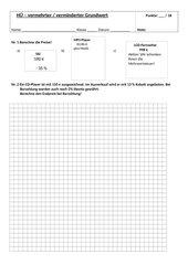 Test vermehrter / verminderter Grundwert