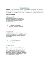 Drucktechniken (Hoch-, Tiedruck, Monotypie)