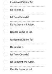 Lesestreifen Erstlesen ALIMTSOD Jo-Jo-Fibel Bayern