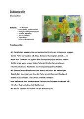 Blättergrafik - Mischtechnik