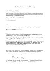 Ein Brief zu meinem 18. Geburtstag