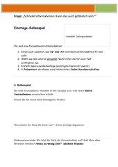 Medien - Umgang mit schnellen Informationen - Überleitung Pressekodex