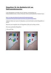 Klangröhren aus Elektroinstallationsrohren