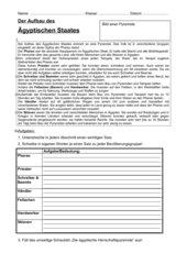 Der Aufbau des ägyptischen Staates (mit Lehrerexemplar)