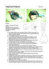Vogel aus Pompons