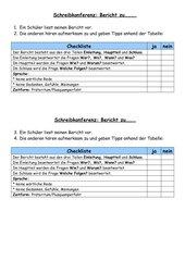Schreibkonferenz Bericht