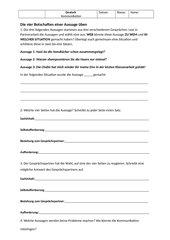 Kommunikation - 4 Seiten einer Nachricht - Friseur