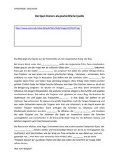 Die Ilias als historische Quelle