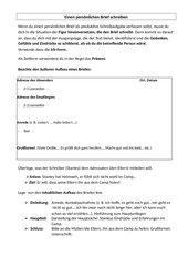 Löcher: Einen persönlichen Brief schreiben