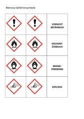 Zuordnungsspiel Gefahrensymbole Chemie