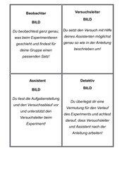 Rollenkarten für Experimente