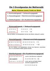 Gesetze in der Mathematik Klasse 5 Gymnasium