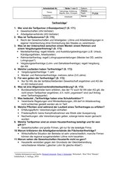 Tarifverträge: Einführung, Begriffe, Arten, Prinzipien