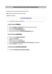 Internetrecherche zu www.berufenet.de