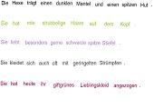 Hexe 1 - Übung zum Umstellen von Sätzen