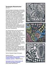 Zentangles - Musterkarten