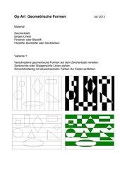 Op Art - Geometrische Formen