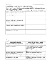 Übung zu Appunto1, L7B, 2. Lernjahr (Kl. 8 bzw. 9)