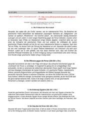 Alexander der Große Alexanderzug Arbeitsblatt mit Arbeitsauftrag