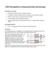 Antiproportionale Zuordnungen und Dreisatz mit LÜK