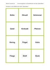 Erweiterungsmaterial-Karten zum Spiel