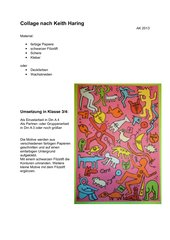 Collage nach Keith Haring
