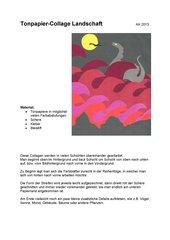 Tonpapier-Collage Landschaft
