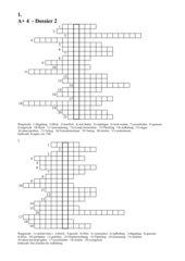 Vokabel-Training mit verschiedenen Rätseln zum Dossier2