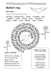 Mother's Day - Word Spiral, Poem, Song