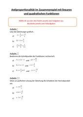 Lerntheke: Grafische Lösung von Gleichungen