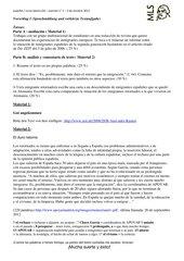 Klausur (Mediación y anális de texto) zu emigración actual española a Alemania