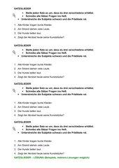Satzglieder: umstellen, Subj+Präd