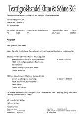 Inhalte des Kaufvertrages/Angebotes