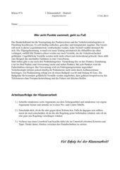Klassenarbeit Argumentieren/Leserbriefe