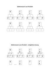 Zahlenmauern im Zahlenraum bis 20