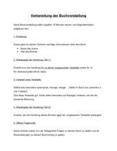 Ablauf einer Buchpräsentation, Klasse 6