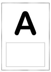 Buchstaben für ABC-Wäscheleine oder -Schlange