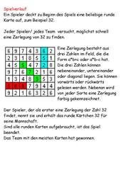 Einmaleins-Spiel für die Tafel