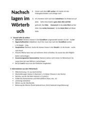 ABC-Suche, Wörterbucharbeit