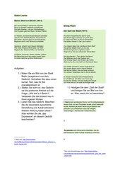Expressionistische Lyrik erarbeiten mit Hilfe analytische und produktiver Aufgaben