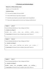 Rechtschreibwerkstatt zu Wörtern mit b/p, d/t, g/k